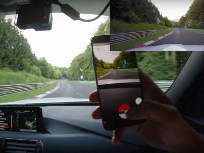 Primeira caçada de Pokemons em Nurburgring
